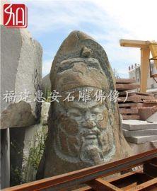 惠安厂家供应青石关公石雕广场景观大型神像雕塑