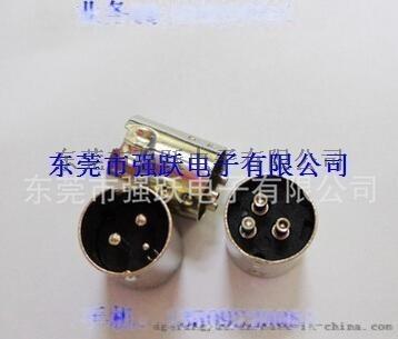 中3P公頭,車針一細兩粗,MINIDIN中丁3PIN連接器公頭,連接器
