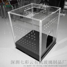 七彩云透明鸟笼鹦鹉笼子宠物用品有机玻璃喂鸟盒