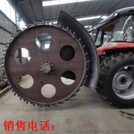 拖拉机后置圆盘开槽机 混凝土管道开沟机价格