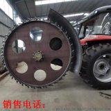 拖拉機後置圓盤開槽機 混凝土管道開溝機價格
