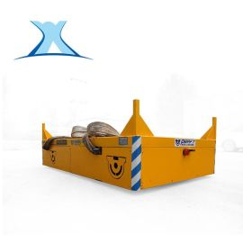 免费定制 蓄电池转弯电动遥控无轨道平车耐高温橡胶板无轨转运车