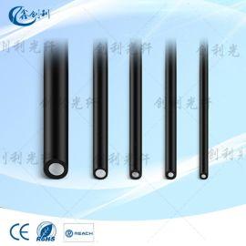 纤芯2.5外4.0mm黑皮尾端导光发光光纤线地埋光纤实芯软导光条塑胶