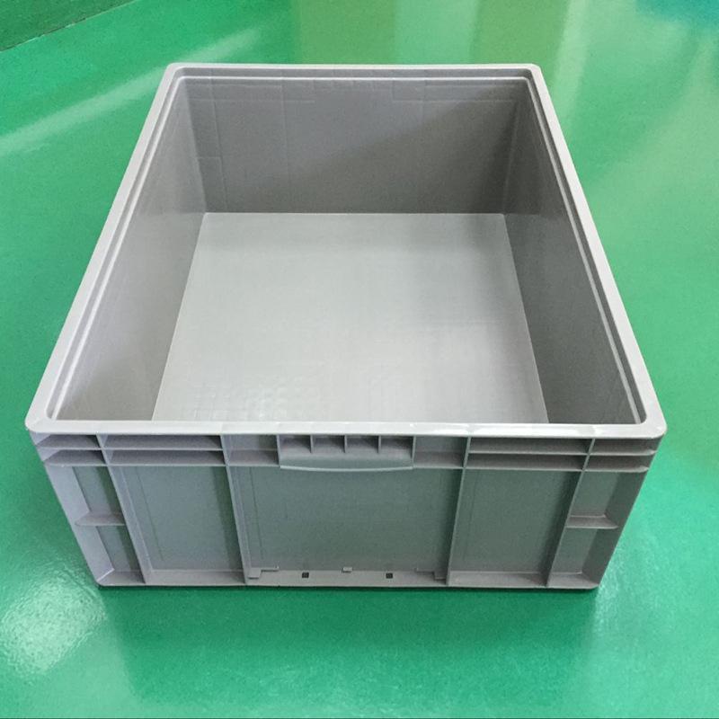 HDPE灰色塑料箱 全新料物流箱 現貨標準尺寸物流運輸週轉箱供應