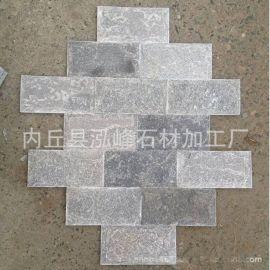 产地直销宁波天然文化石石材灰色石英蘑菇石别墅小区外墙装饰石砖
