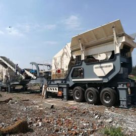 矿山移动碎石机 济南嗑石机 石料破碎生产线设备