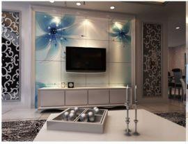 时尚艺术瓷砖雕花电视背景墙