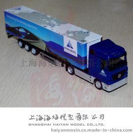 厂家供应 1: 87奔驰车头集装箱货柜车模型
