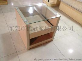 优冠酒店床头柜玻璃床头柜 城市便捷酒店客房家具供应商