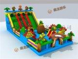 儿童气垫海洋主题乐园,公园跳床去哪定做,广场充气蹦蹦床城堡新款。