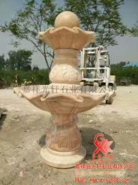石雕风水球雕刻 石雕喷泉加工
