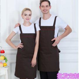 现货批发咖啡厅餐厅火锅店服务员围裙美甲师工作服围裙定制logo
