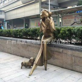 广州玻璃钢厂家定制玻璃钢古铜色欧式人物雕塑园林景观定制工厂
