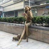 廣州玻璃鋼廠家定製玻璃鋼古銅色歐式人物雕塑園林景觀定製工廠