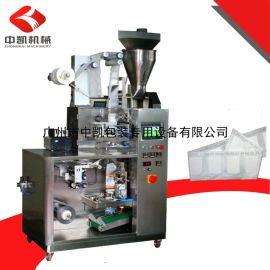 广州中凯厂家直销挂耳咖啡包装机茶包咖啡包内外袋一体包装机