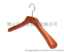 展示时装男式夹克仿古榉木衣架 镀铬弯咀钩坚固承重力强