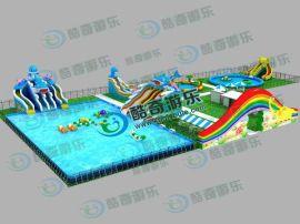 充氣游泳池,大型支架充氣游泳池