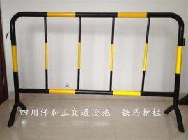 马路施工铁马护栏是什么材质做的?成都**的铁马护栏厂家地址