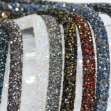 双尖水钻网钻胶管钻珠圆形长条带手镯衣领箱包链鞋发饰配件
