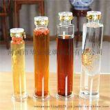 人参泡酒瓶直筒细长款高硼硅玻璃透明养生酒瓶