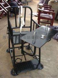 [鑫盾安防]棕黑色板钥匙型铁质审讯椅 方管不锈钢审讯桌椅XD7