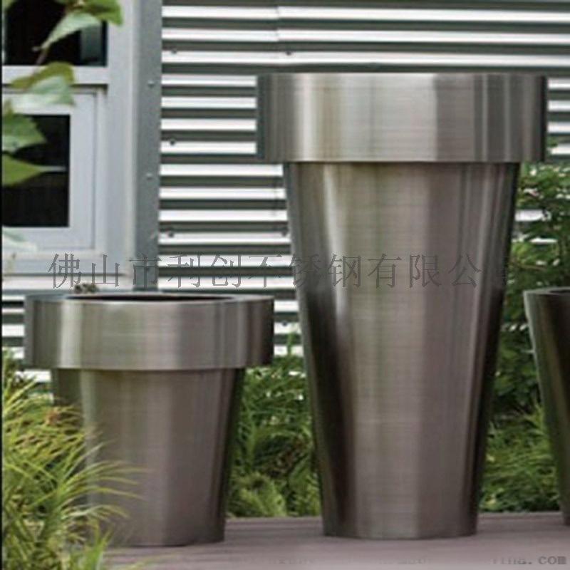 不鏽鋼創意花盆加工廠家園藝花箱定製