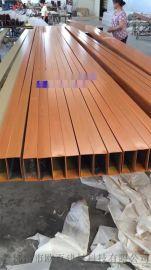 鋁四方管規格型號 供應木紋鋁方管