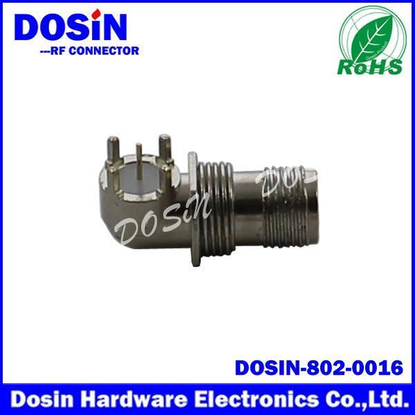 德索/DOSIN-802-0016印刷电路板封装TNC弯头插座 TNC射频天线母座