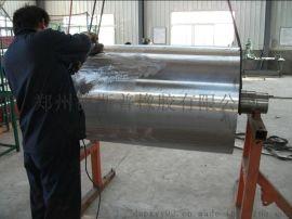 新疆乌鲁木齐皮带机滚筒进行包胶冷粘胶