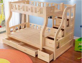 烟台儿童松木高低床儿童卧室上下床批发