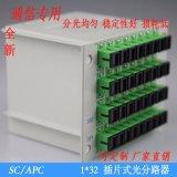 1分32插片式光分路器SC-APC PLC插片式光分路器