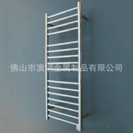16杆圆管不锈钢电热毛巾架,304不锈钢浴巾架