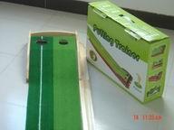 高尔夫实木轨道推杆练习器