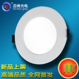 廠家直銷4W車鋁筒燈圓形新款超亮LED照明平板燈面板天花草帽燈MR4