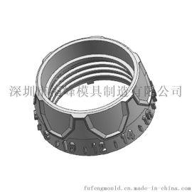 扭力杯二次注塑内螺纹双色包胶模具注塑模具福峰模具制造深圳包胶模定做