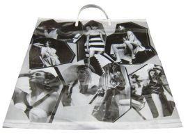 LDPE黑色硬手提礼品袋30X6X38CM/广告礼品袋