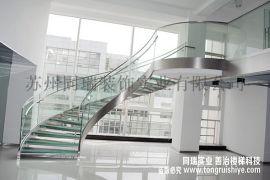 办公室钢结构玻璃楼梯 厂家直销