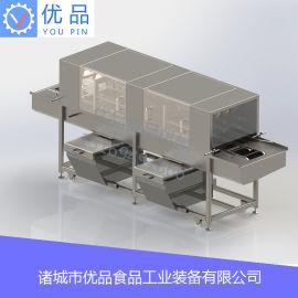 高压喷淋洗筐机 自动冷热水洗筐机 隧道式洗筐机