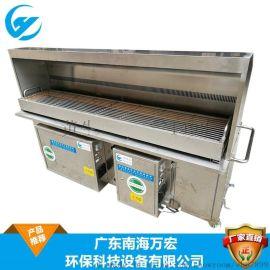 四川烧烤净化设备 木炭无烟烧烤车 静电油烟净化器