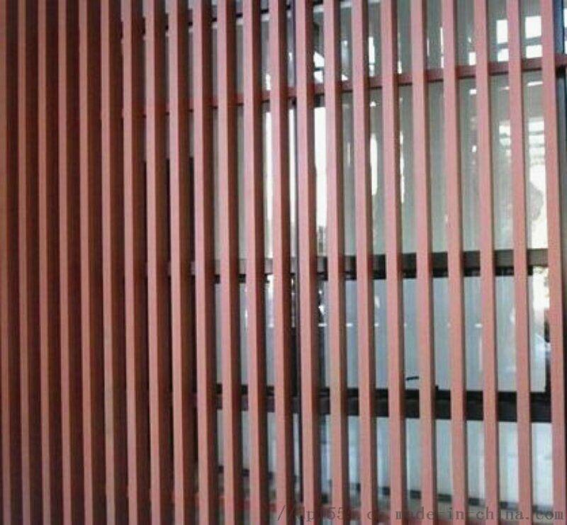 2018年新式铝方管 铝合金方管 木纹铝方管