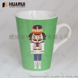 出口16oz圣诞节陶瓷马克杯 可定制图案 礼品赠送 促销杯