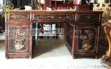 四川实木书桌办公桌,古典书桌,