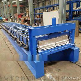 河北彩钢机械厂,金诚信820角驰压瓦机,冷弯成型机
