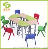 厂家直销善学个性化的梯形桌椅,组合拼接书桌