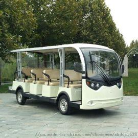 景區電動觀光車14座交流系統進口電控智慧充電瓶車