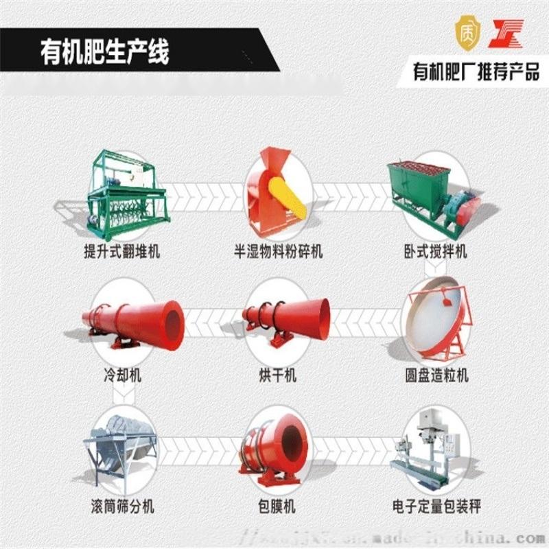 鸡粪有机肥生产线 牛粪有机肥生产线 大型年产10万吨鸡粪生产线