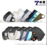 摩托車頭盔擋風鏡通用透明夏季防嗮鏡片卡扣型防紫外線