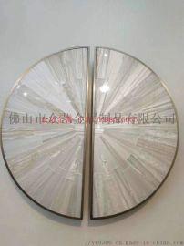 圓形鋁板浮雕祥雲拉絲鈦金拉手
