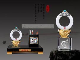 开业**典水晶纪念品,商务办公摆件礼品