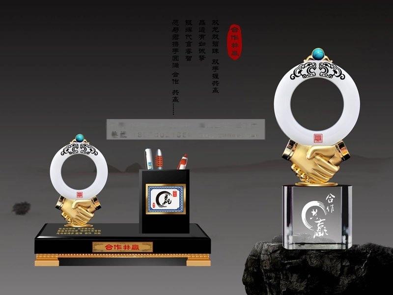 開業週年慶典水晶紀念品,商務辦公擺件禮品